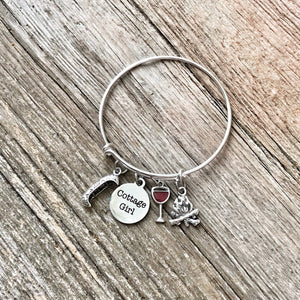 Cottage Girl Bracelet Bangle