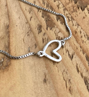 Adjustable Bracelet - Open Heart
