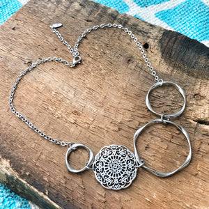 NEW Filigree Hoop Bib Necklace