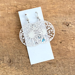 Lightweight dandelion wish filigree earrings