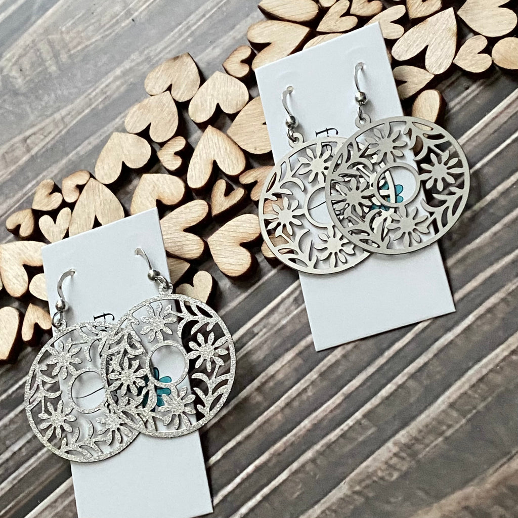 Lightweight flower filigree earrings