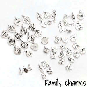 Family charm selection