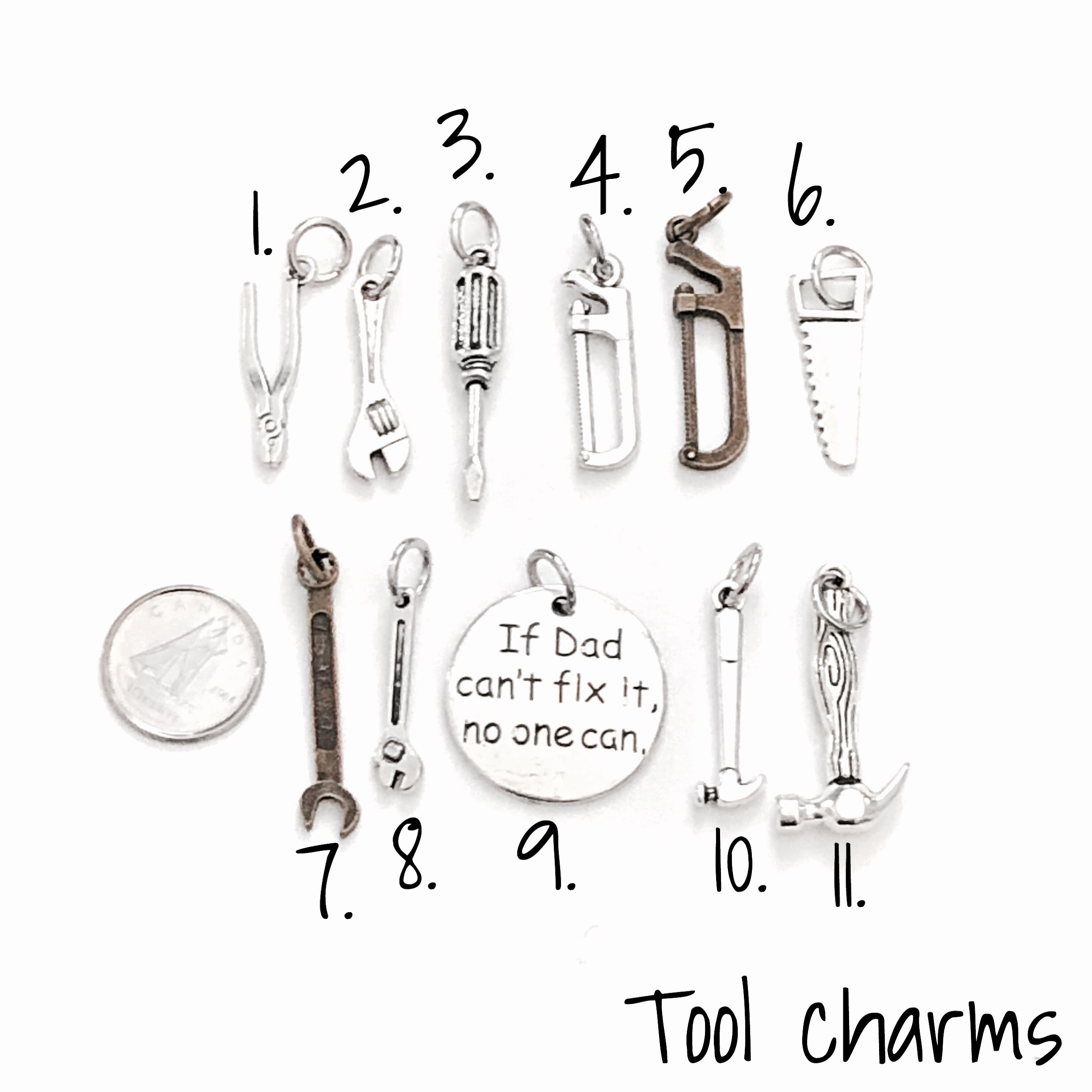 Tools charm selection