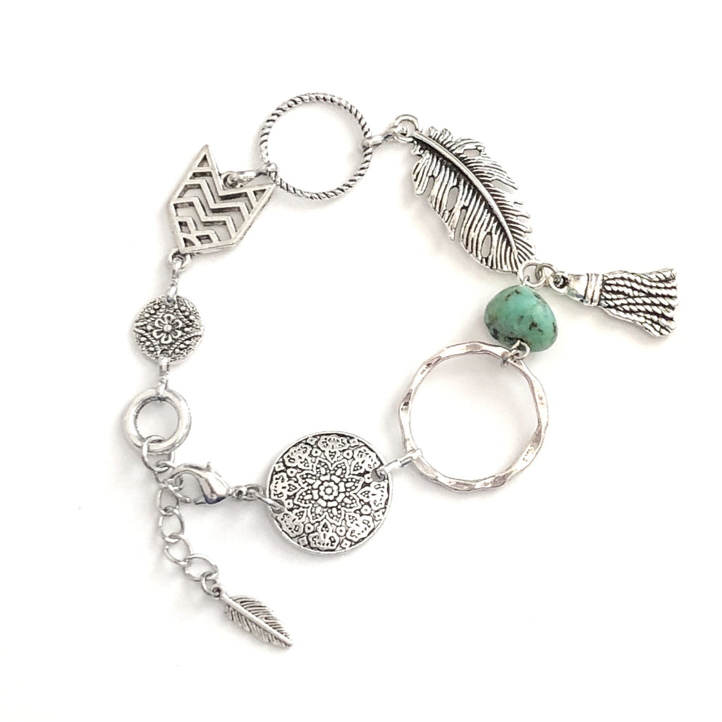 Feather Tassel Bracelet