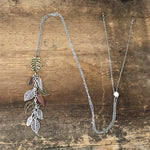Adjustable Leaf Cluster Necklace
