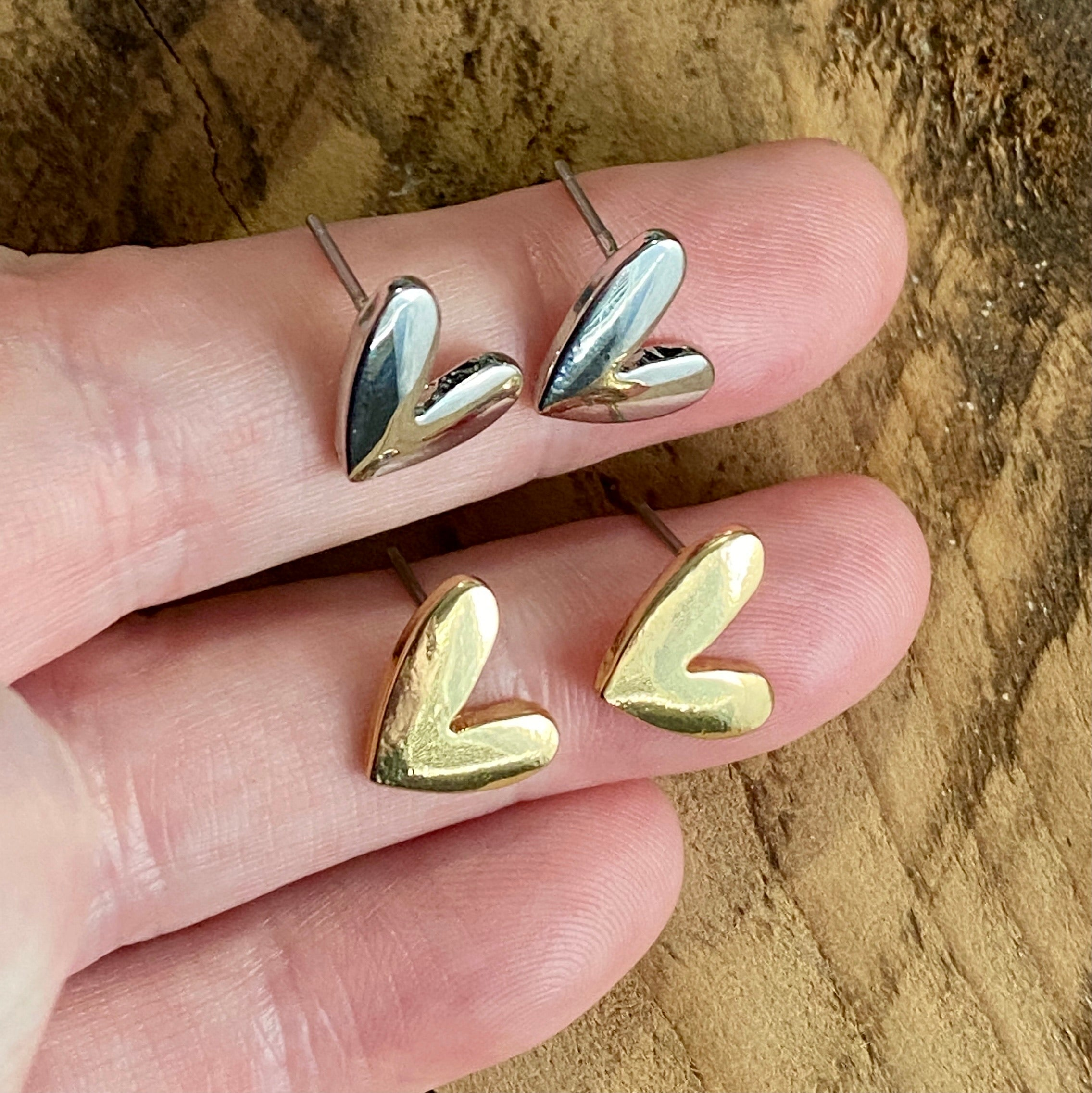 Whimsical Stud Heart earrings