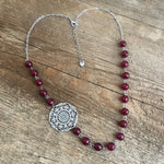 Beaded Filigree Mandala Necklace