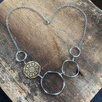 A Touch of Gold Filigree Hoop Bib Necklace