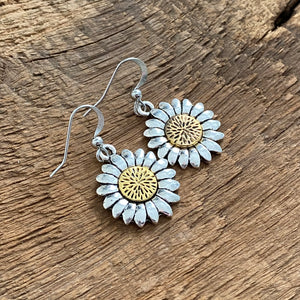 Sunflower Earrings with gold center