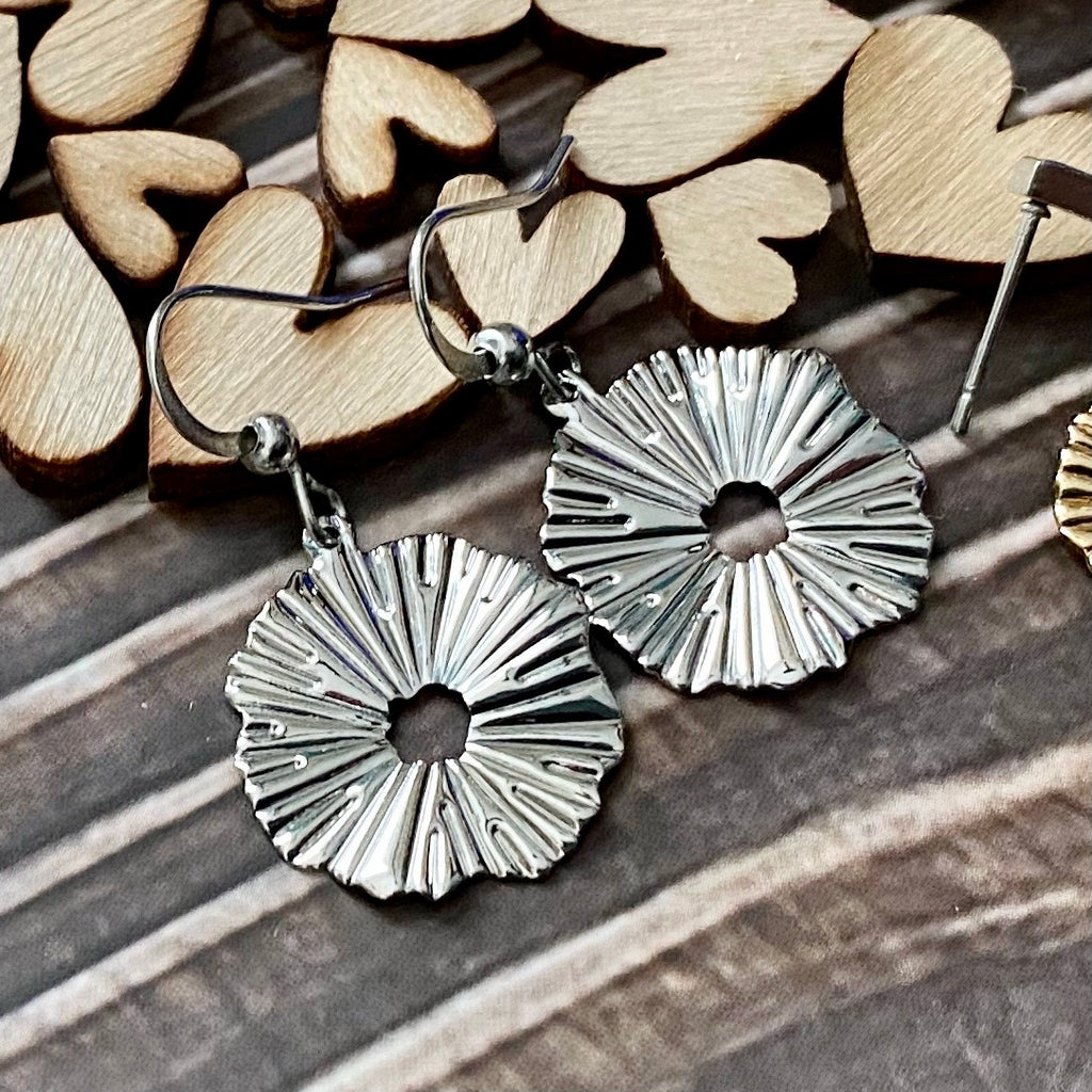 Sunburst Hook Earrings