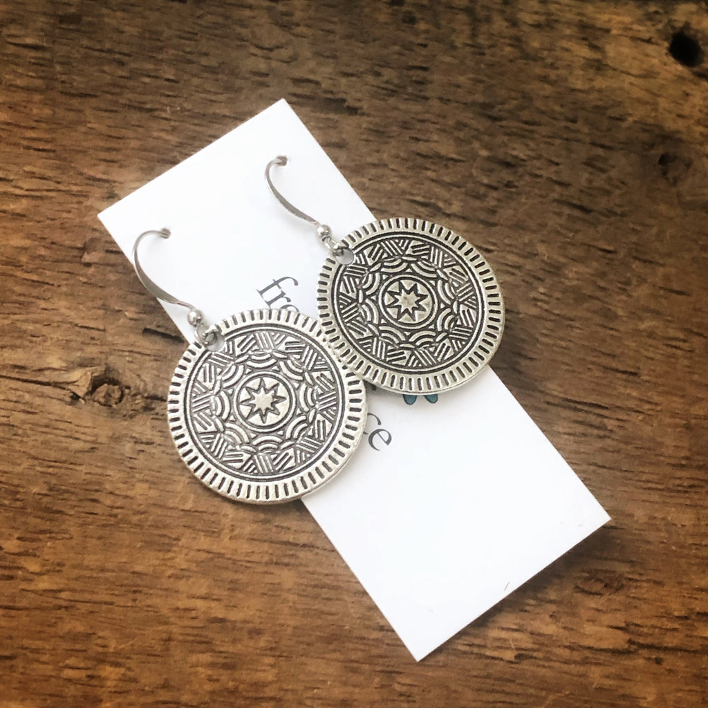 Medallion Earrings Medium Size