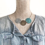 Tri Medallion Bib Necklace