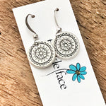 Small Boho Medallion Earrings