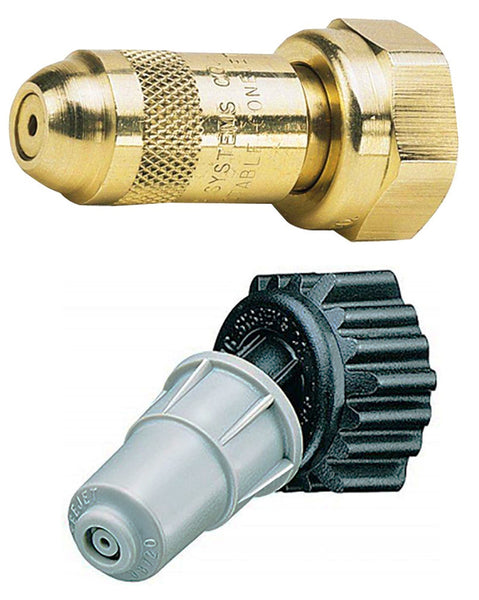 Adjustable Pin-to-Cone Nozzles (Brass or Poly)