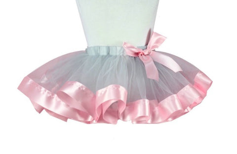 Baby Girl Tutu Pink and gray skirt - Tiny Stars Boutique