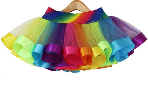 Baby Girl Tutu Rainbow Skirt - Tiny Stars Boutique
