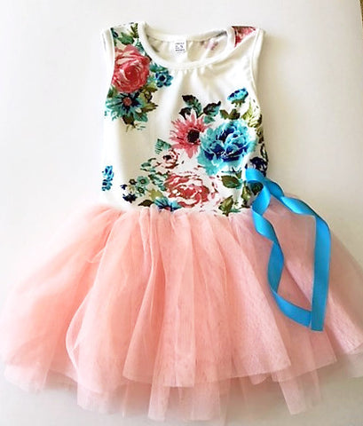 Adorable  Pink Floral Dress - Tiny Stars Boutique