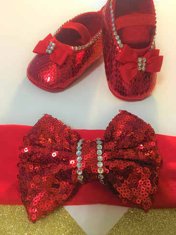 Christmas baby shoes, Baby Red Shoes, Girl Red Shoes, Baby Shoes