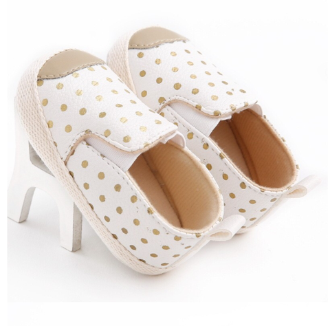 Baby Girl White and Gold Loafers - Tiny Stars Boutique