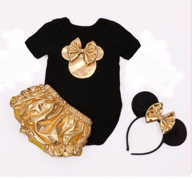 Baby Black and Gold Tutu Onesie - Tiny Stars Boutique