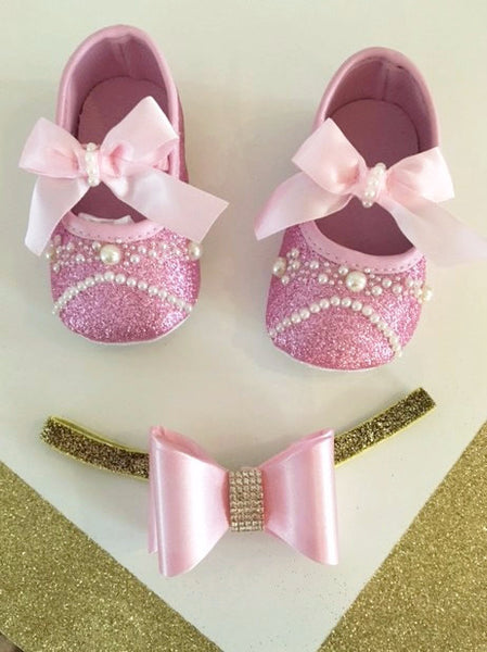 Baby Girl Pink Shoes - Tiny Stars Boutique