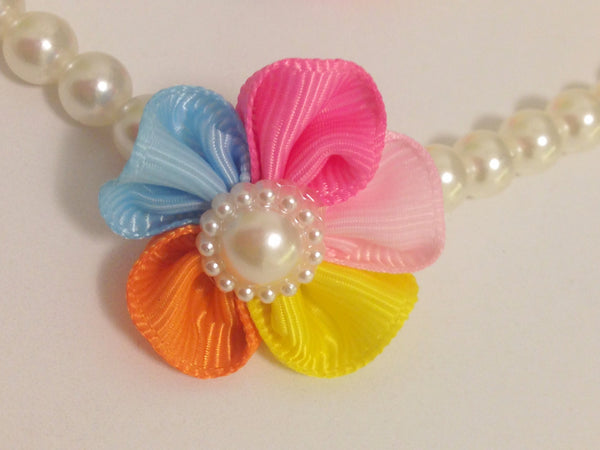 Baby Necklace and Bracelet set-Girl accessories-Baby accessories-Baby girl necklace-Flower necklace-Flower bracelet-Pearl Necklace-Pearls - Tiny Stars Boutique