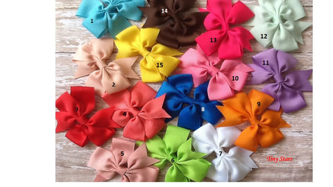 Baby Bows, Toddler Bows, Pink bows, Orange Bows, Red Bows, Blue Bows, Yellow Bows, Purple Bows, Green Bows, White Bows, - Tiny Stars Boutique
