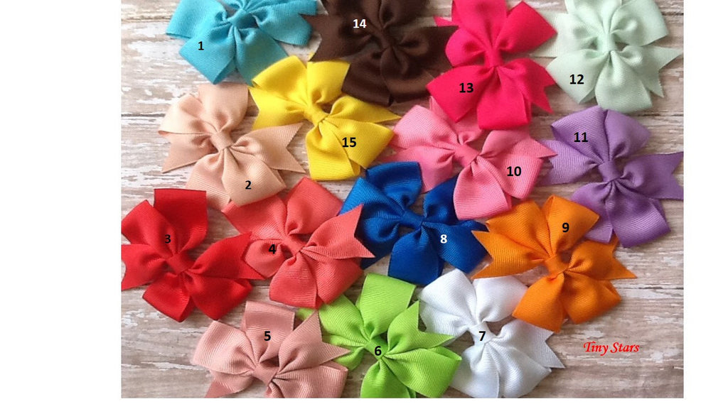 Girl Bows, Toddler Bows, Pink bows, Orange Bows, Red Bows, Blue Bows, Yellow Bows, Purple Bows, Green Bows, White Bows, - Tiny Stars Boutique