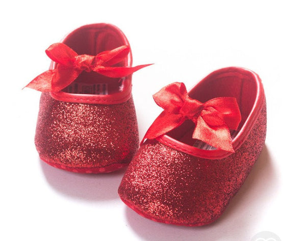 Red Glitter baby shoes - Tiny Stars Boutique
