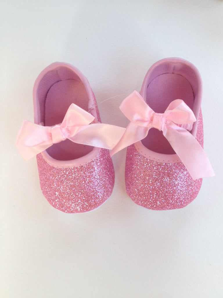 Pink Baby Shoes Glitter