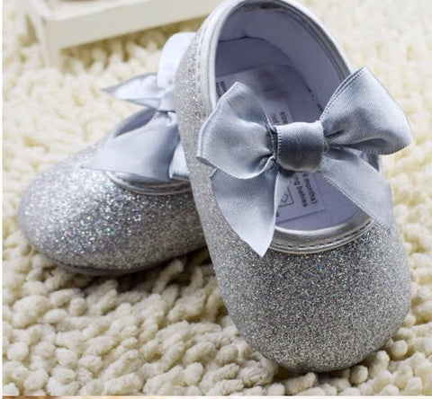 Baby girl Silver Shoes - Tiny Stars Boutique