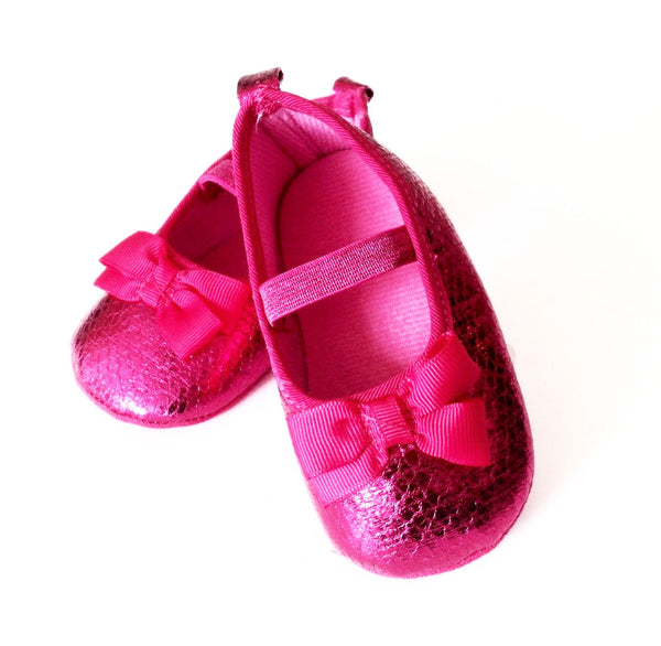 Hot Pink Baby Girl Shoes - Tiny Stars Boutique