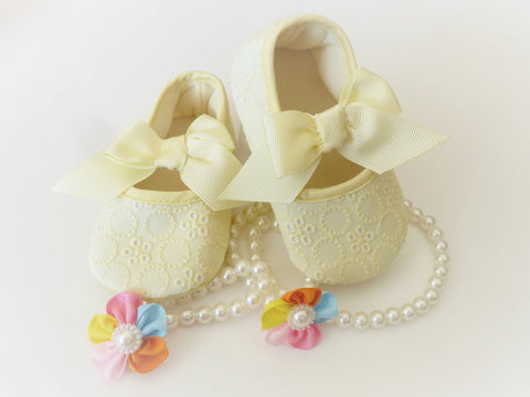 Yellow Baby Girl Shoes - Tiny Stars Boutique