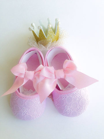 Pink Baby Shoes - Tiny Stars Boutique