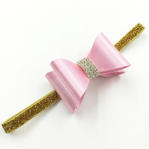 Baby Girl Pink Satin Headband - Tiny Stars Boutique