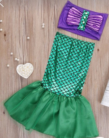 Adorable Two Piece Mermaid Swimsuit - Tiny Stars Boutique