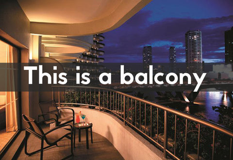 what is a balcony