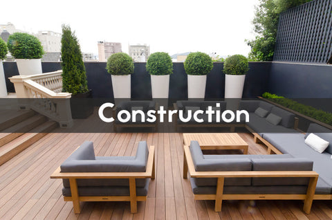 construction of a terrace vs a balcony