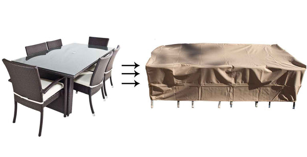 patio furniture cover dining set