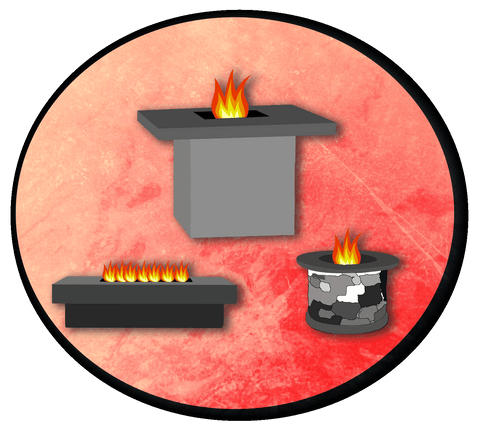outdoor fire table vector image