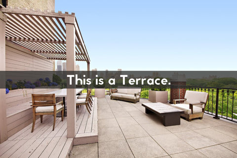 what does the word terrace mean the meaning of opulent