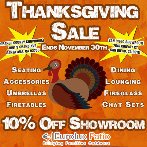 thanksgiving sale outdoor patio furniture small business