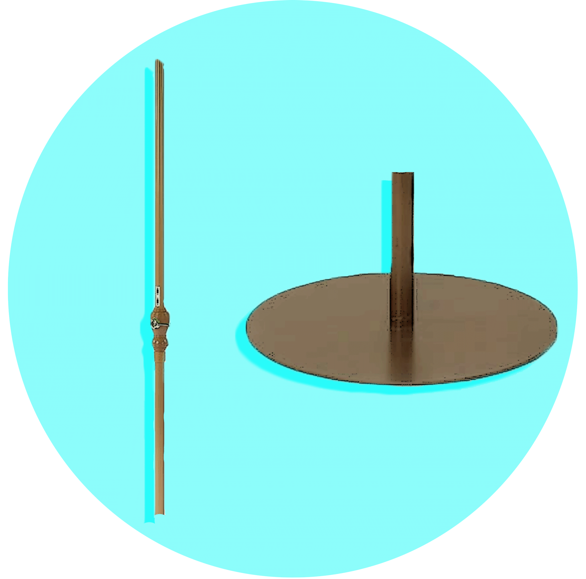 Patio Umbrella Pole Diameter & Base Weight