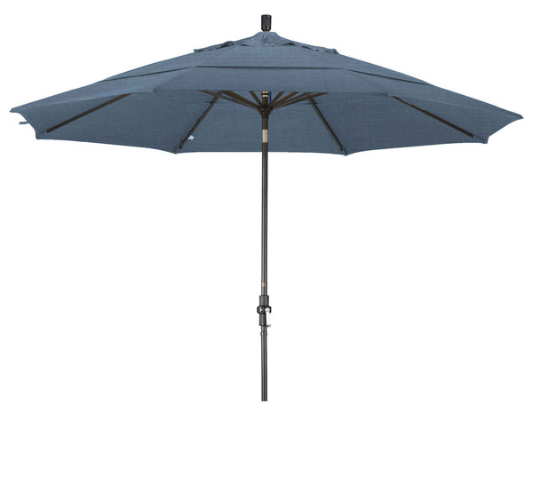 11 Foot GSCU118 Upright Umbrella Air Blue Bronze Pole