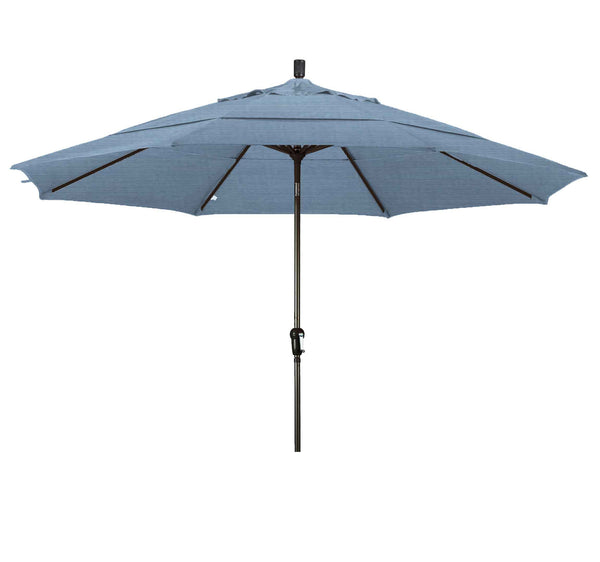 11 Foot SDAU118 Upright Umbrella Air Blue Bronze Pole