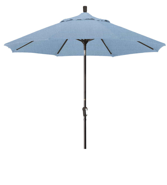 9 Foot SDAU908 Upright Umbrella Air Blue Bronze Pole