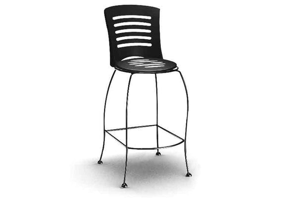 Latte Bar Stool with Slotted Seat