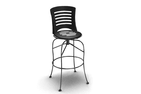 Latte Swivel Bar Stool with Slotted Seat