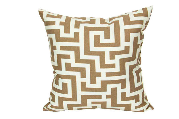 Bronze Maze Print 15 x 15 Pillows (Set of 2)