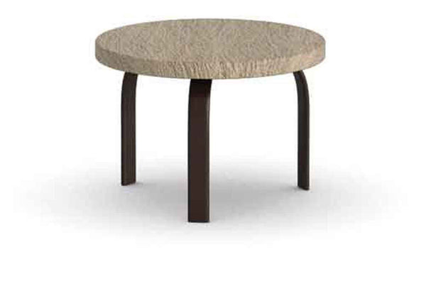"Slate 24"" Round Side Table"